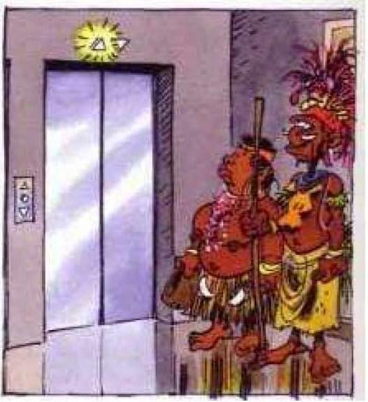 Εικονογραφημένο ανέκδοτο: Το μαγικό ασανσέρ!