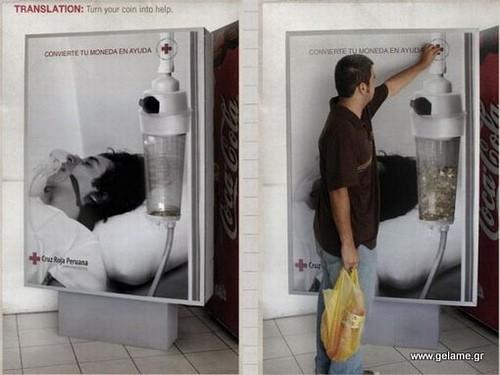 Πρωτότυπες διαφημίσεις με λεφτά
