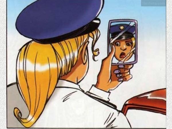 ΚΟΡΥΦΑΙΟ: Ξανθιά αστυνομικός σταματάει μια ξανθιά που δεν σταμάτησε στο STOP…!