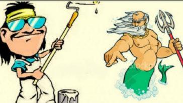 Ανέκδοτο: ο Ελληνάρας…. μπογιατζής στον Παράδεισο!