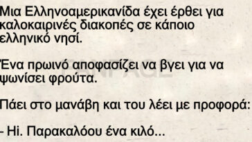 Ανέκδοτο: Μια Ελληνοαμερικανίδα στο μανάβικο